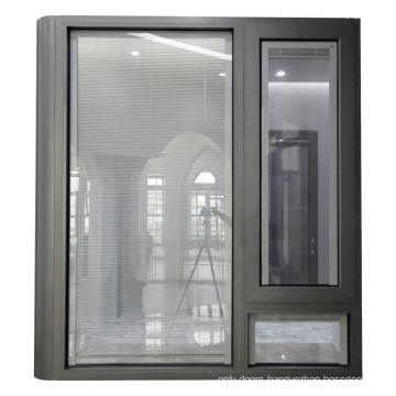 Soundproof large size fixed aluminium corner window