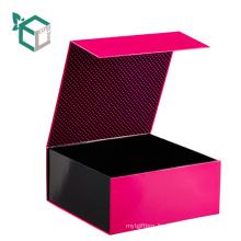 Matt Black Rigid Custom Cardboard Spot UV Finish Bath Bomb Box Design