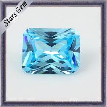 Light Aquamarine Princesa Cut Shining CZ Stones