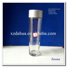Round Shaped Wholesale Glass Water Bottle with Cap