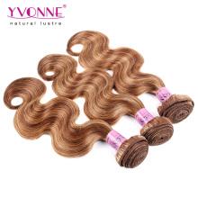 Mischen Sie farbige Körperwelle Haarverlängerung peruanisches Haar