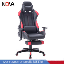 PU Leather Racing Computer office chair with neck support and lumbar support