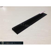 Aluminium Radius Tile Trim in Anodised Black Color