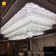 Lámparas de techo de cristal hechas a medida grandes para el lobby de los hoteles