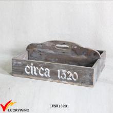 Потертый домашний декор Прямоугольный деревянный столовый прибор