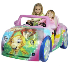 Kiddie Ride, coche de los niños (señora rosada)