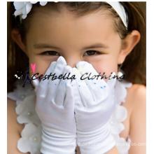 2016 Fabrik-Großverkauf formale Hochzeits-Satin-Handschuhe für Blumen-Mädchen
