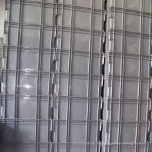 Envase de plástico apilable en gris y azul para la industria logística
