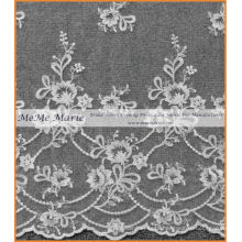 High Quality White Ivory Lace Fabric for Curtains 52'' No.CA325