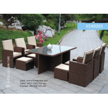 Outdoor Garden Dining Set Rattan Chair and Table