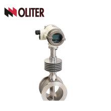 Tipo de brida de acero inoxidable medidor de flujo de vórtice líquido de oblea de medición con LED