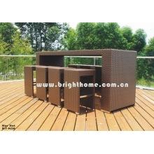 Muebles de jardín Muebles de jardín Silla de ratán Tabe Bar Set