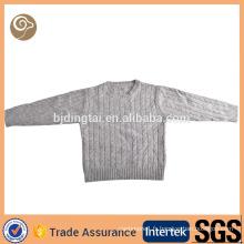 Wholesale tricoté câble automne enfant pull en cachemire