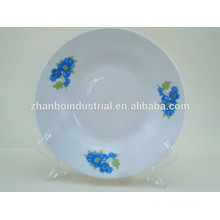 8 inch round edge ceramic soup bowl for cheapest market