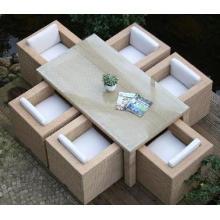 Открытый элемент античный ротанг, столовая мебель набор