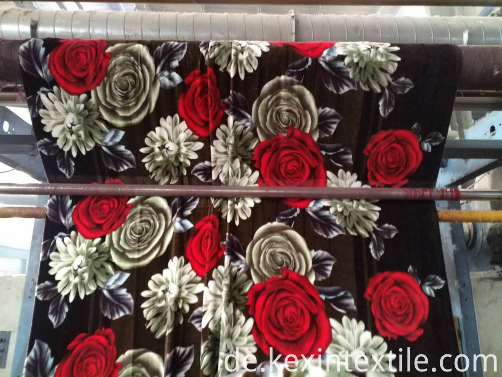 big flower designs flannel blanket