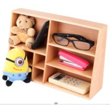 Caixa de armazenamento de armazenamento de cosméticos de madeira / caixa de armazenamento