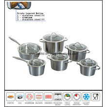 12PCS Taper Impact Bottom Cookware Set