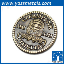 antigüedades latón metal moneda recuerdo