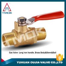 """TMOK Mini Válvula de Esfera 1/2 """"MACHO X FÊMEA NPT Cromado Corpo de Bronze 450 psi MXF"""