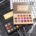 Paleta de sombra de ojos de forma de libro de cartón blanco cosméticos 12 warna