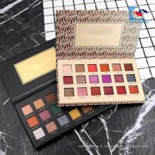 Palette de fard à paupières en forme de livre en carton blanc cosmétiques 12 warna