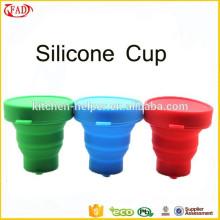 Copo telescópico de silicone reciclado de grau alimentar personalizado