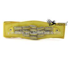 2015 New Design Yellow Fashion Elastic Wide PU Ceintures en gros BC3886-1