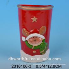 Decoración de Navidad humidificador de aire de cerámica con estatuilla de ciervos