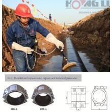 RCD flexible Edelstahlrohr Reparaturklemme für Wasser / Gas / Kraftstoff-Pipeline