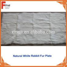 Chinese Natural White Rabbit Skin Plate