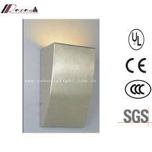 Modern Indoor Stainless Steel Hotel Bedside Wall Lamp