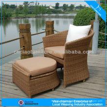 Nouveau pe rotin chaise synthétique rotin tissé siège extérieur