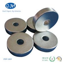 Imanes de cilindro de anillo sinterizado NdFeB con recubrimiento de Ni (DSM-002)