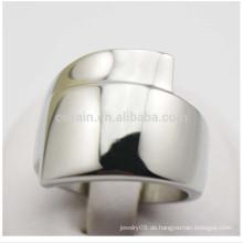 China-Fabrik-kundenspezifische Schmucksache-Silber-breite Unisex-Titanring-Ringe