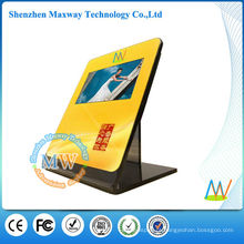 suporte de exposição do contador acrílico com o monitor do lcd de 10 polegadas