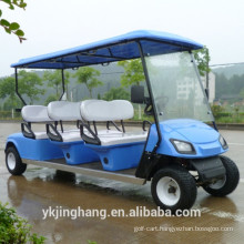 CE certification 6 passger gasoline power golf sightsseing cart used for scenic arear