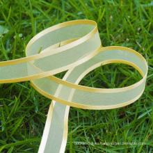 Cinta del organza del oro de la alta calidad, venta al por mayor de la cinta del organza