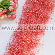 3+8MM Flesh Pink Acrylic Pearl Beaded Garland For Decoration