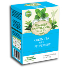 Peppermint Flavored Green Tea Pyramid Tea Bag Premium Blends Organic & EU Compliant (FTB1511)