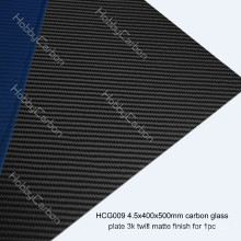 Glossy / Matte 3K Blätter 3.0mm 4.0mm 4.5mm Carbon Glasscheiben