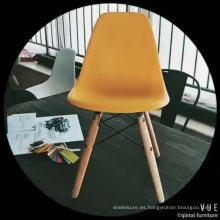 Sillas de comedor de bajo precio de sillas de plástico de comedor barato colorido