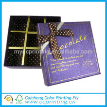Yiwu brand chocolate gift paper boxes set with ribbon manufacturer