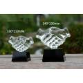 Стеклянная Награда Ручной Бизнес-Подарки Рукопожатие Кристалл Трофей