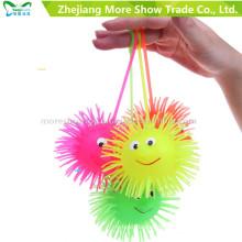 Novedad Puffer colorido Yoyo iluminar juguetes para niños de bolas