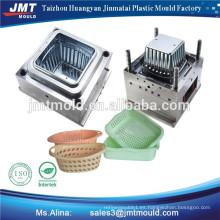 molde plástico de la cesta de fruta y verdura
