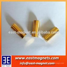 Neodyumium Magnet Bar Mantel mit Gold / ndfeb Zylinder Magnet verwendet für dekorieren