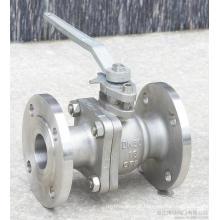 Flange de aço inoxidável 2PC Flange Full Válvula de esfera flutuante (Q41F)