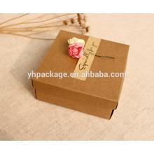Boîte-cadeau kraft faite main de qualité supérieure