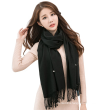 Lady wholesale maxi pashmina scarves blends plain viscose shawl blend pearl shawl scarves